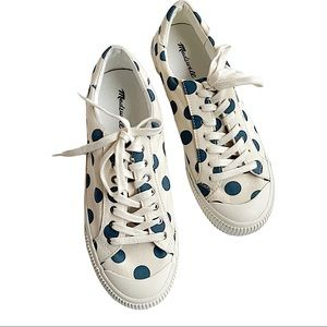 Madewell Sidewalk Sneakers in Polka Dot W 8/M 6.5